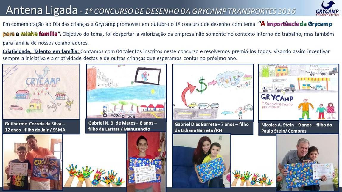 1º Concurso de desenho da Grycamp Transportes 2016