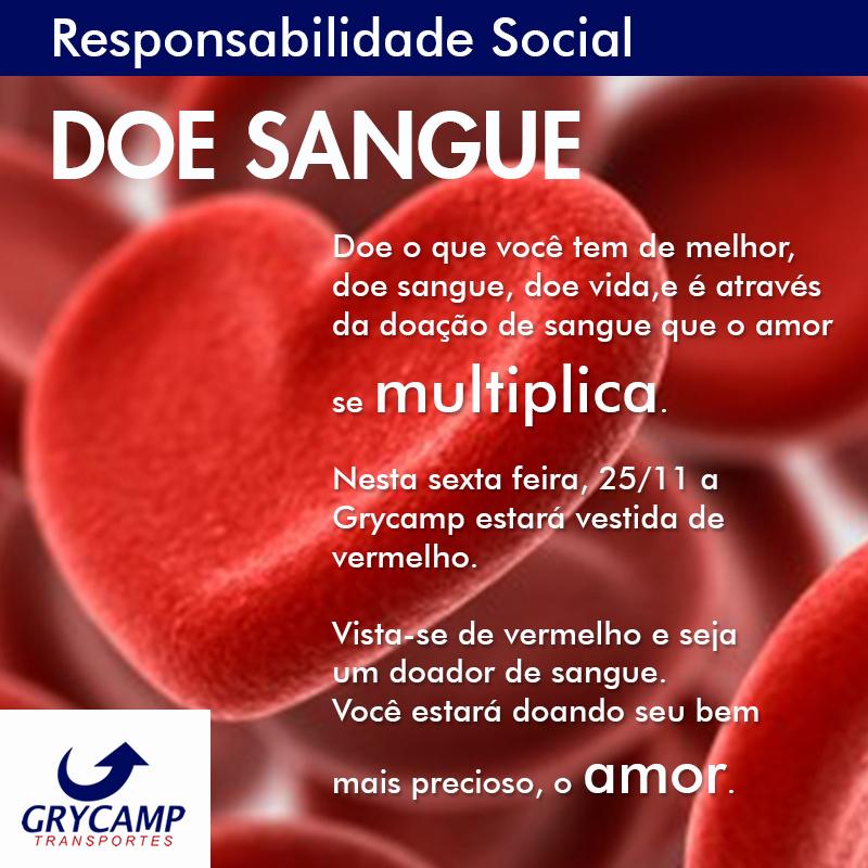DSS - Diálogo Semanal de Segurança! Ética e Cidadania no Trânsito | Campanha 25 de Novembro - Dia Nacional do Doador Voluntário de Sangue